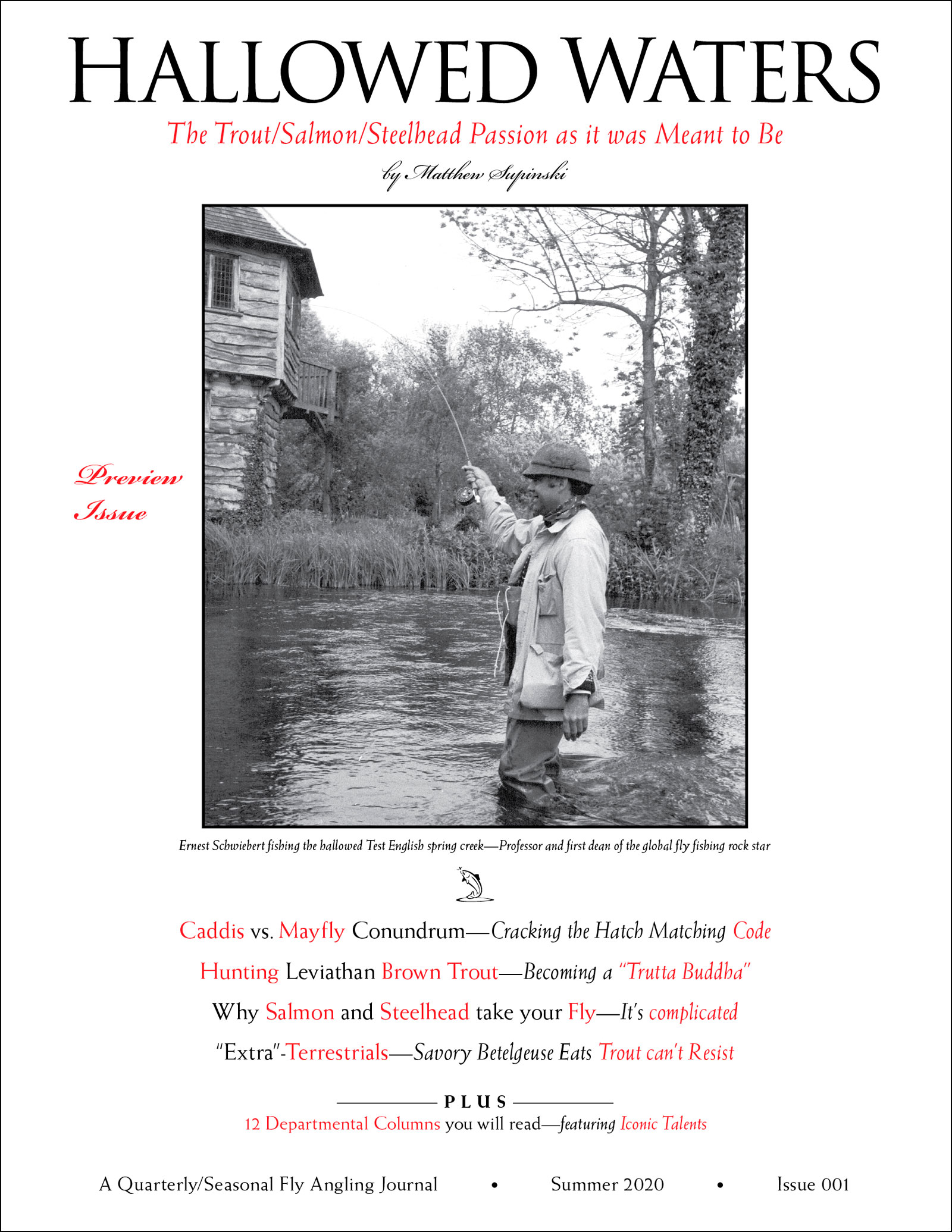 Hallowed Waters Journal Preview Issue Cover